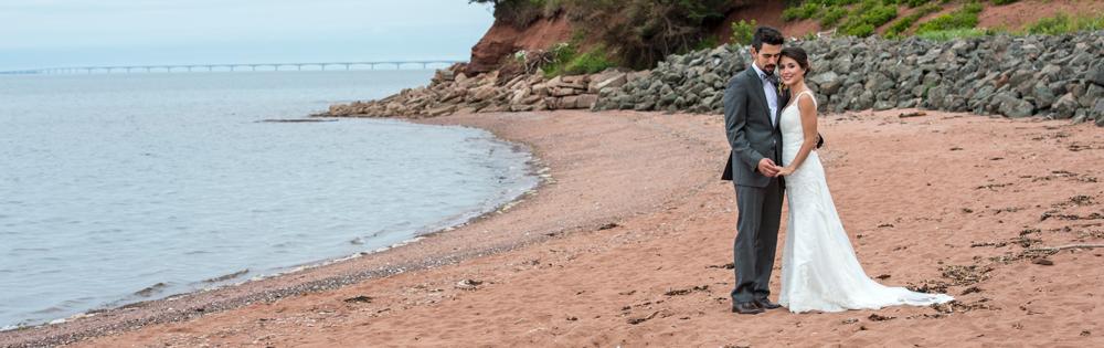 PEI Wedding Photographer - couple on the beach