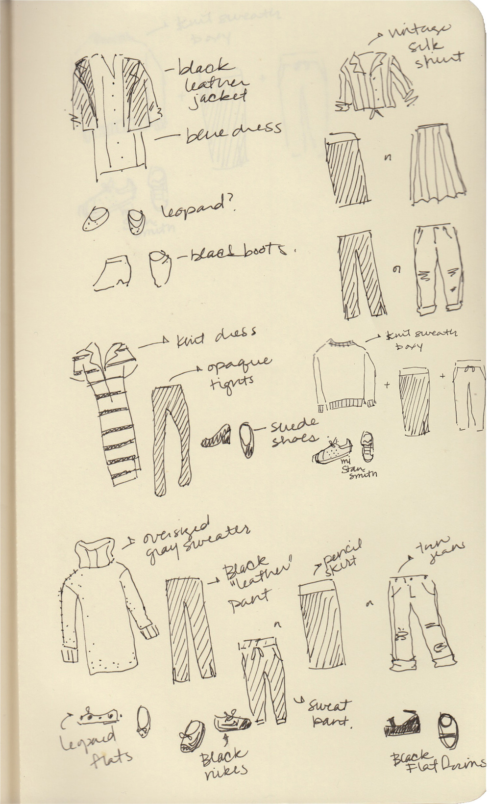 Found in my August 2014 sketchbook.  I still wear these.