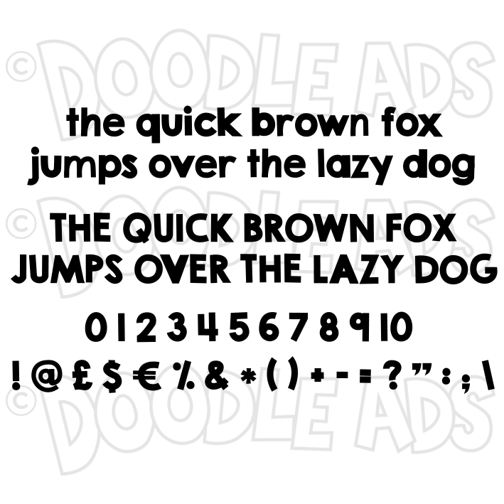 Text Words Letters Numbers Doodle Ads Svgs