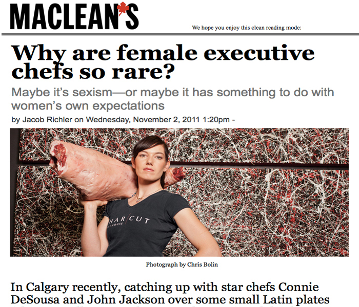 Maclean's Magazine: Why are female chefs so rare?