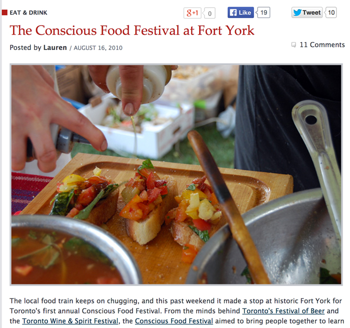 BlogTO.com: The Conscious Food Festival