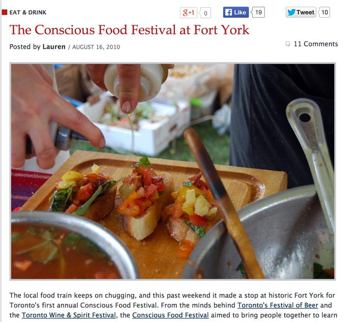 BlogTO.com: The Conscious Food Festival