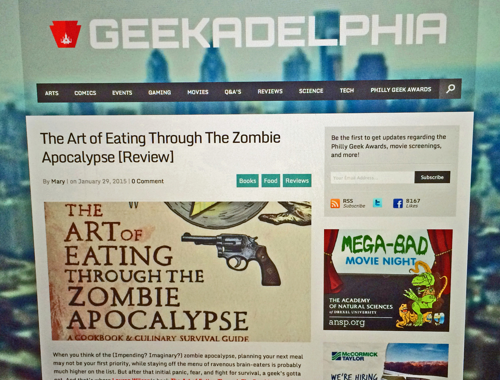 Review of The Art of Eating Through the Zombie Apocalypse on Geekadelphia!