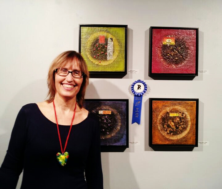 "Best In Show Award for ""Apothecary Green"", Small Works Exhibit, Broward Art Guild, December 2013"