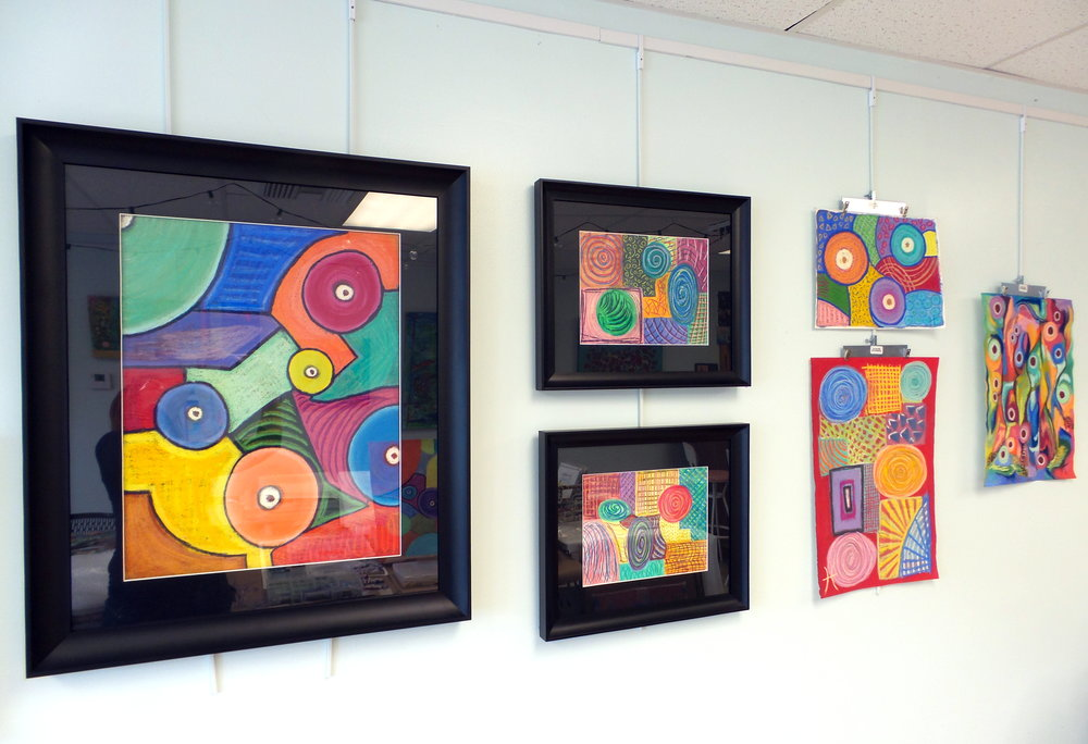Framed and Unframed Colorful Original Pastel Artworks by Tristina Dietz Elmes.