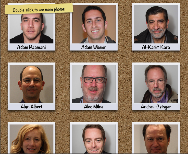 iPhoto Faces shows all the people you have tagged