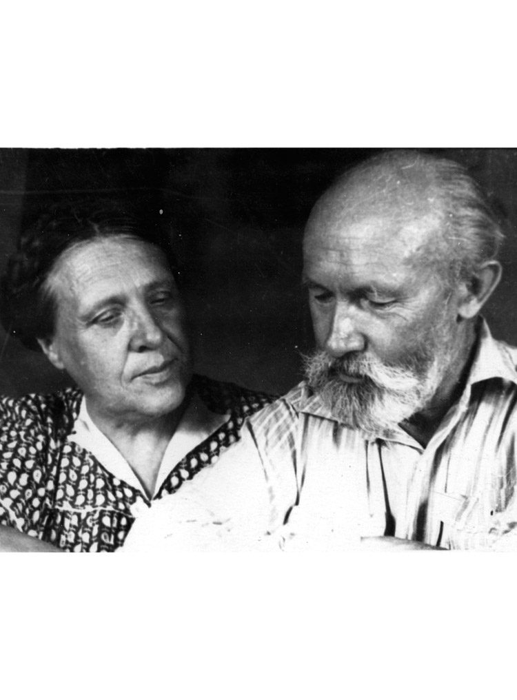 3.13 ┆     Yelena Aleksandrovna and Nikolai Ivanovich Zubov (close friends of the author in exile).    Kok-Terek, 1956