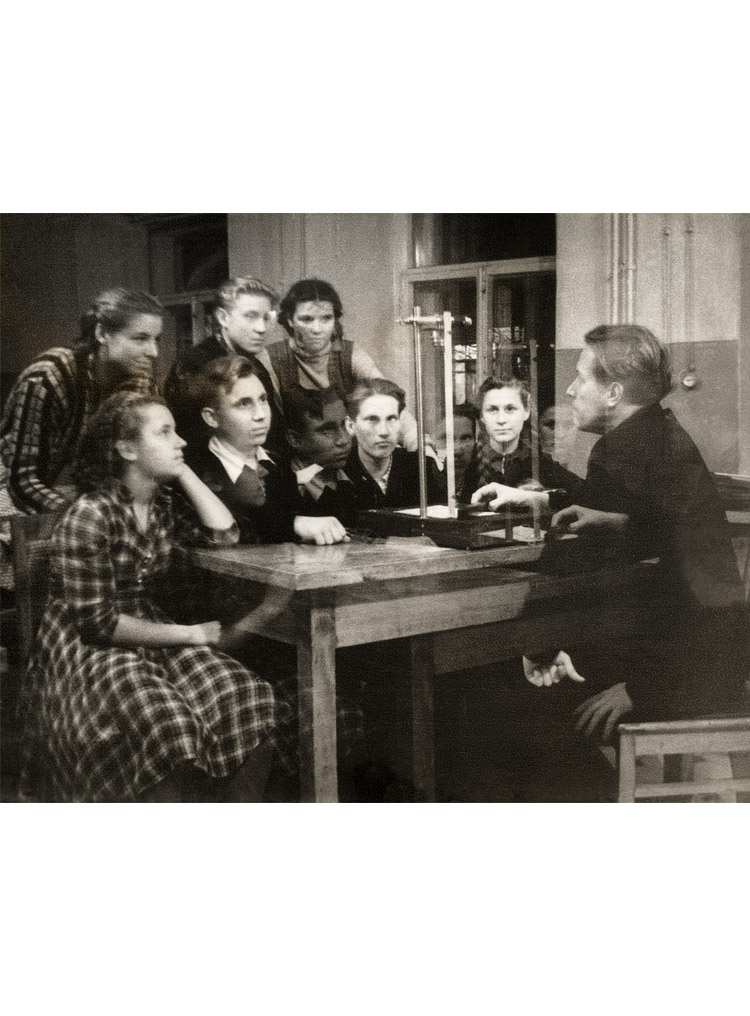 4.6 ┆   Teaching physics at   Mezinovka school.   1956-57