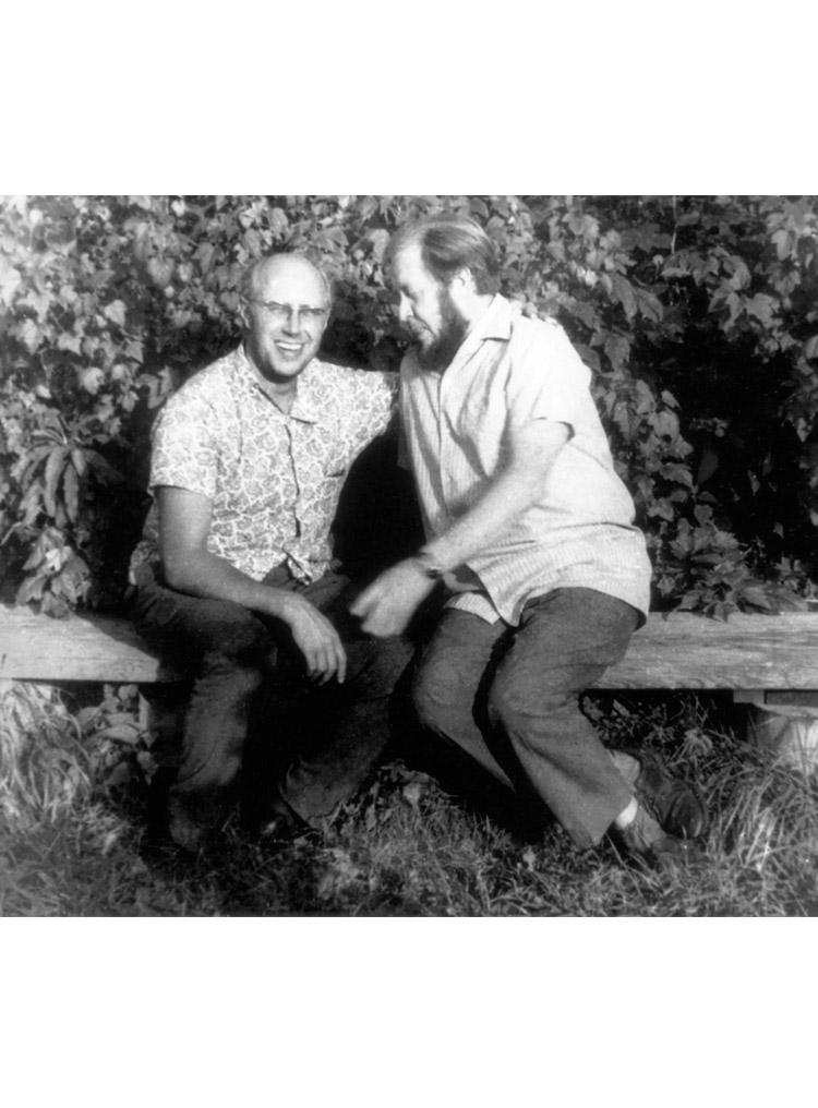 6.6 ┆   Mstislav Rostropovich and Aleksandr Solzhenitsyn.    Rozhdestvo-na-Istie, Summer 1969