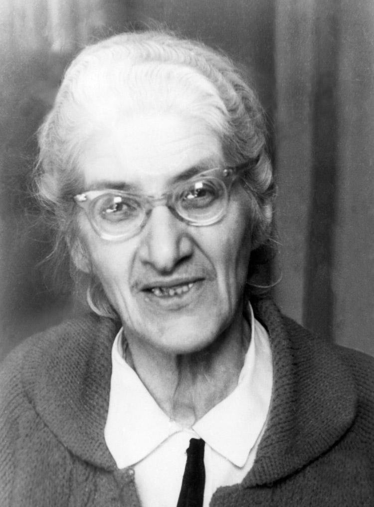 6.10┆Lydia Korneevna Chukovskaya, daughter of Kornei Chukovsky.   1960s