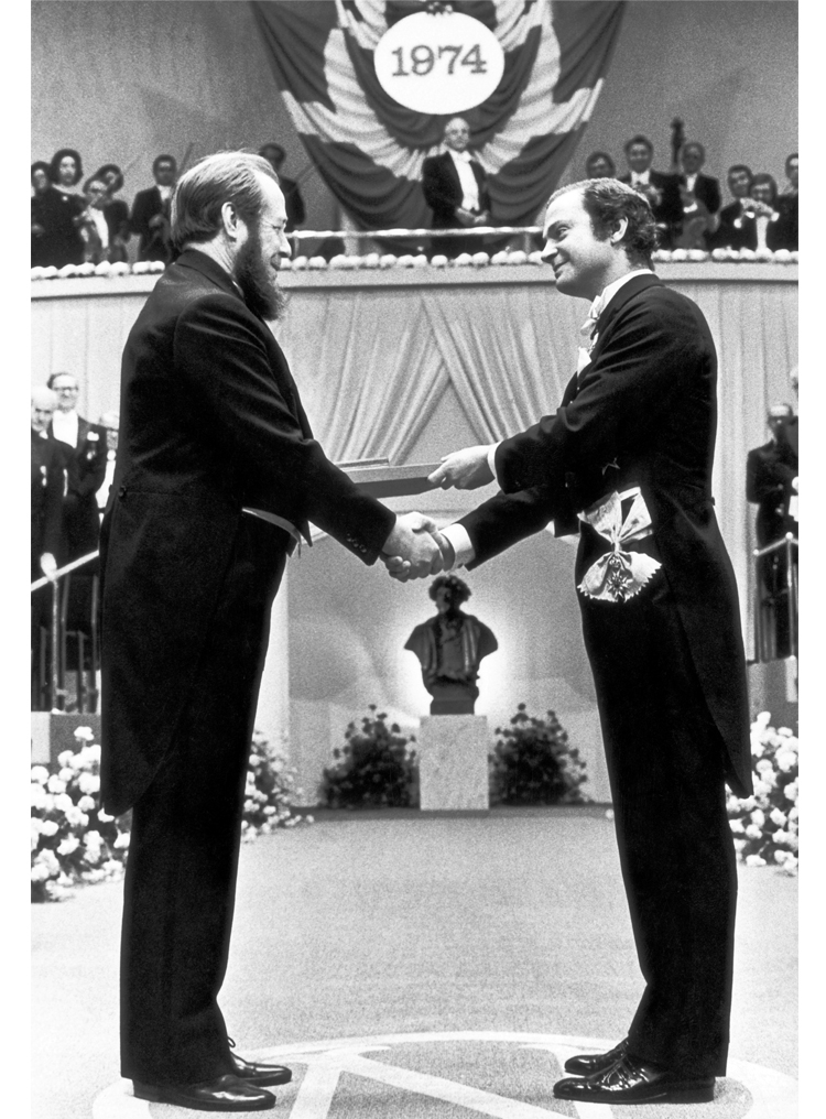 7.17┆  Nobel Prize Award Ceremony.   Stockholm, 10 December 1974 Credit: Jan Collsiöö.  © Pressens Bild AB