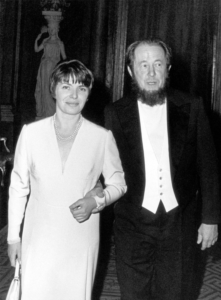 7.20┆  With Natalia during Nobel ceremonies.   December 1974
