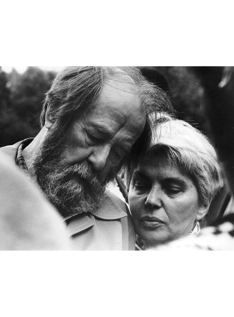 "9.8┆Aleksandr and   Natalia Solzhenitsyn. Tver, 1996   Credit: Liudmila Zinchenko, ""Moscow House of Photography"""