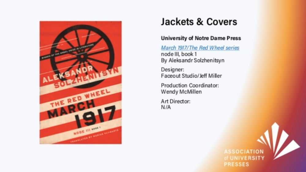 2018 Book, Jacket, & Journal Show from Association of University Presses