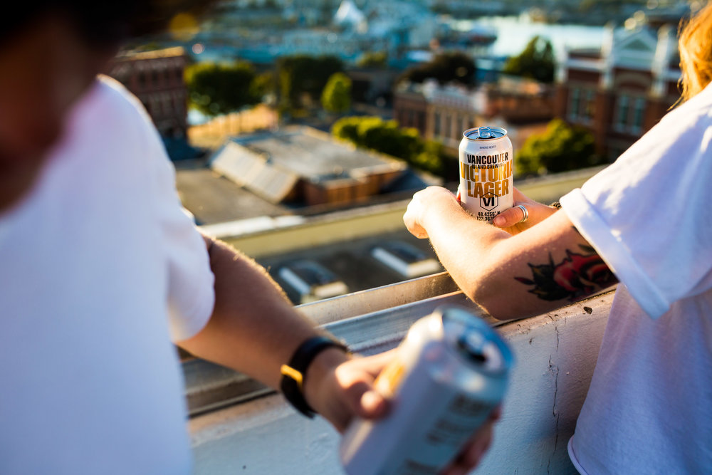 Rooftop Victoria Lager Sunset