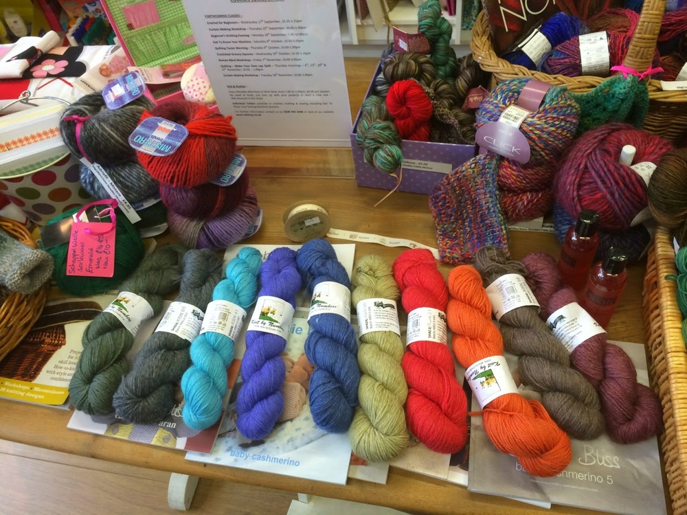 John Arbon Paint by Numbers yarn on display at Stitch Up