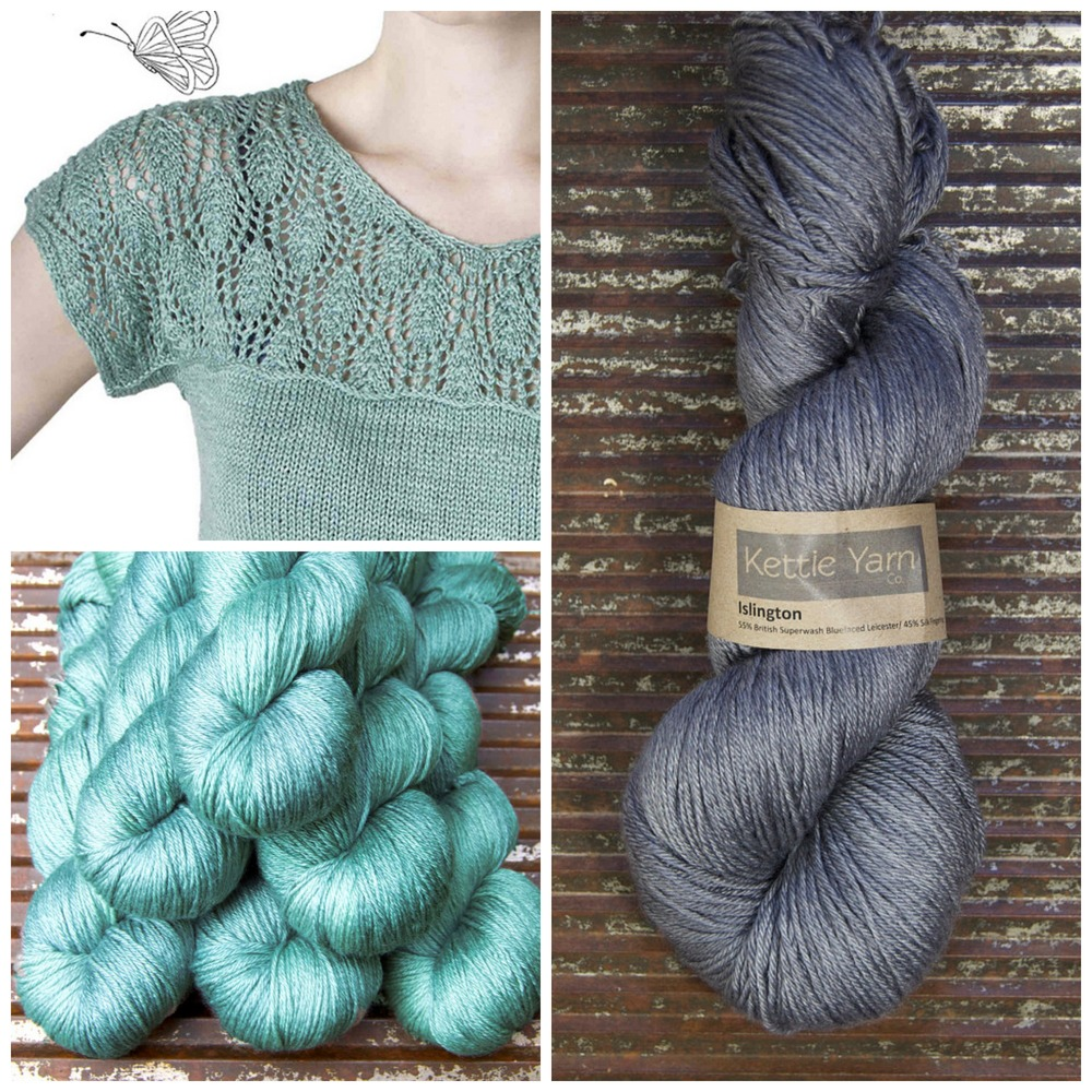 Some of the gorgeousness that is Kettle Yarn Co.'s Islington - shown in Pom and Old Smoke.