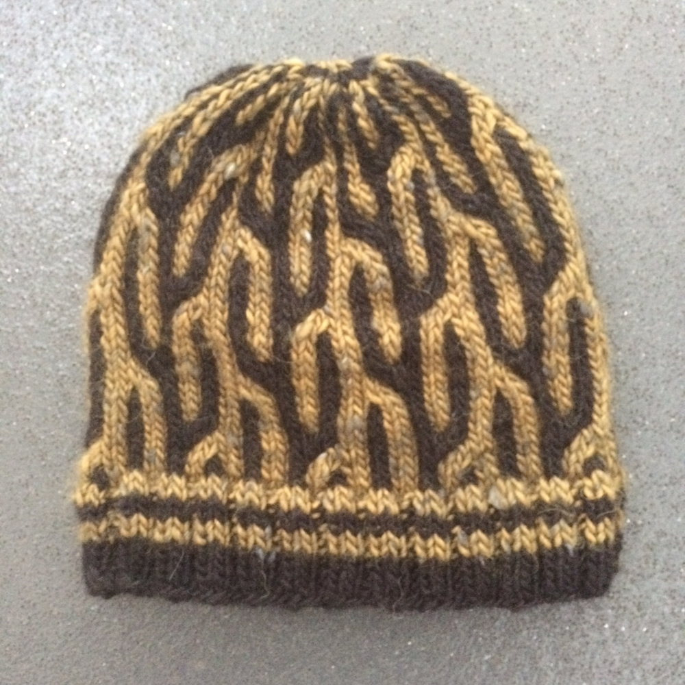 Just look at those cacti! The Saguaro hat - pattern by Renée Callahan of East London Knit
