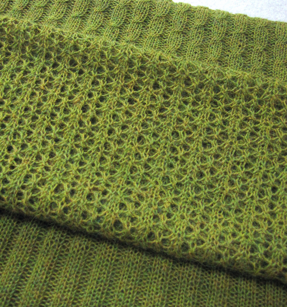 Rachel's gorgeous Windmill Bay Stole is finally off the needles!