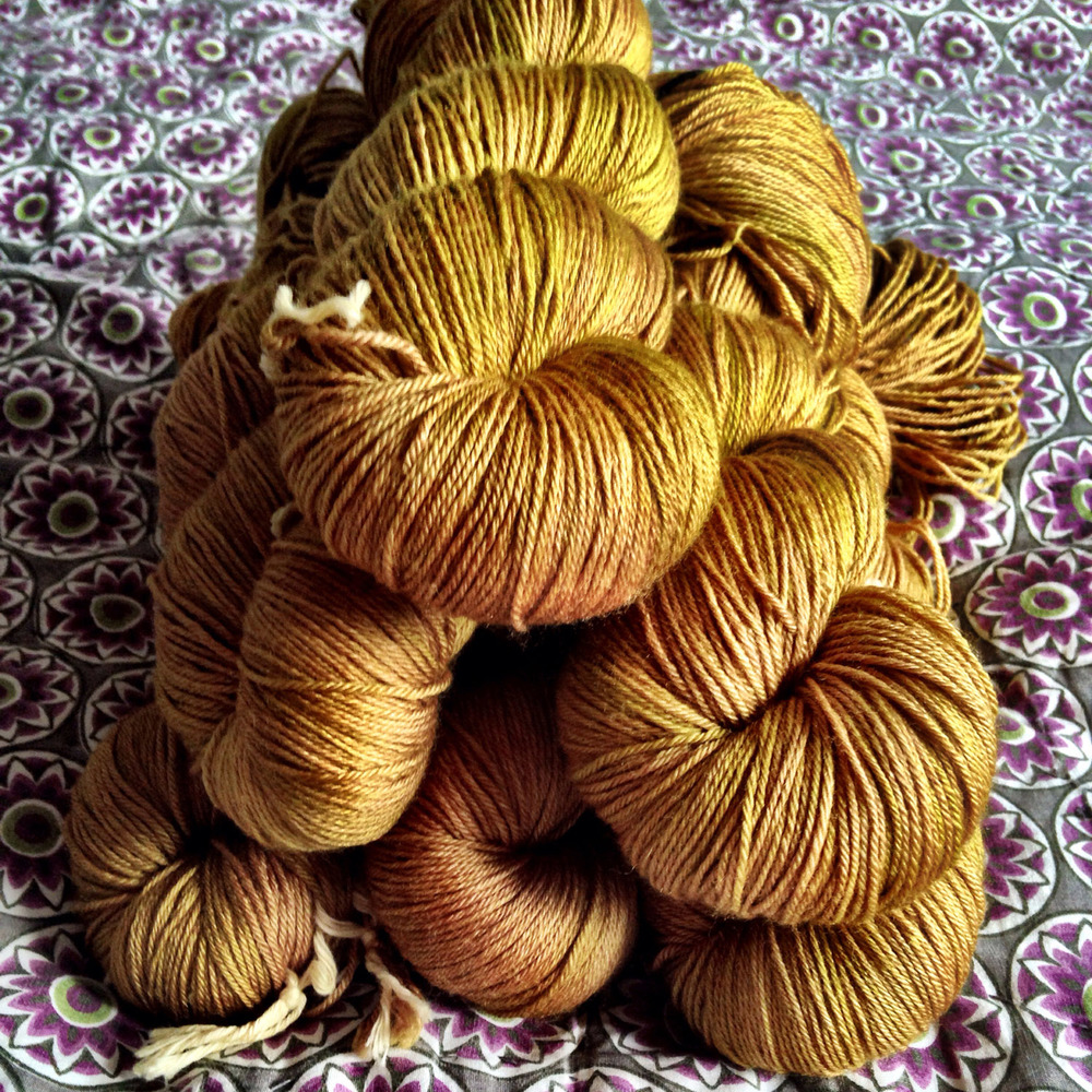 "Bespoke ""Golden Beehive"" from DyeForYarn"