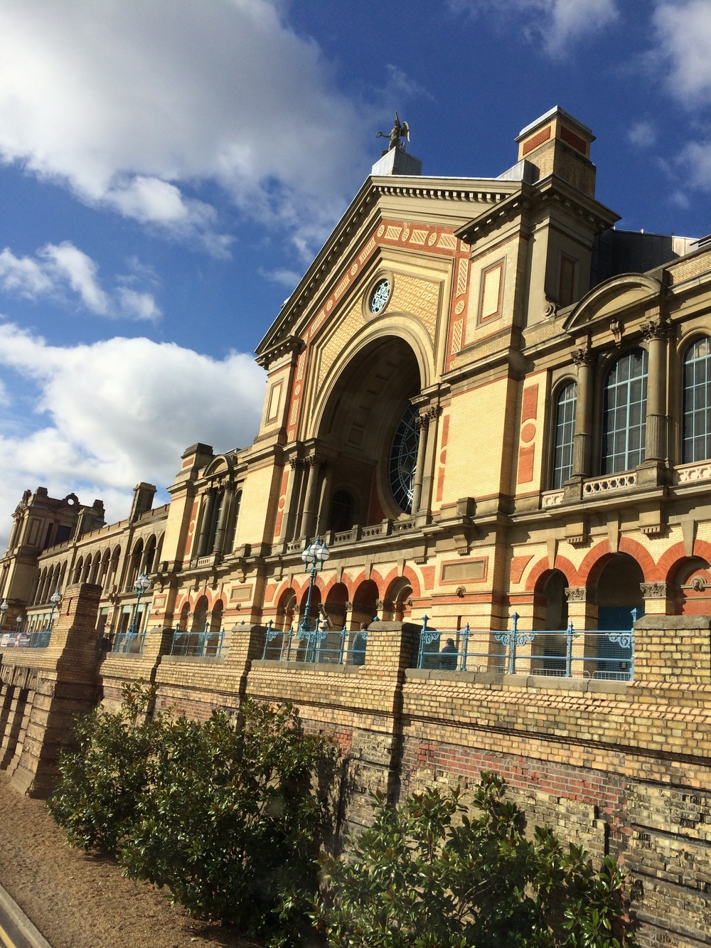 The huge exhibition space Alexandra Palace, located in North London