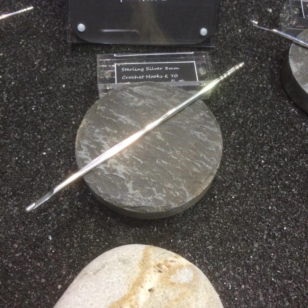 A stunning, sterling silver crochet hook by Welsh jeweller  Lyn Roberts  that I ogled, and then put on my Christmas wishlist!
