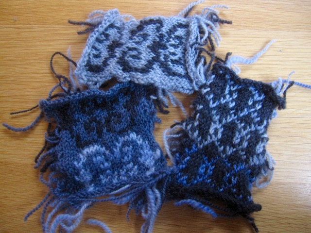 Unravel hat swatches