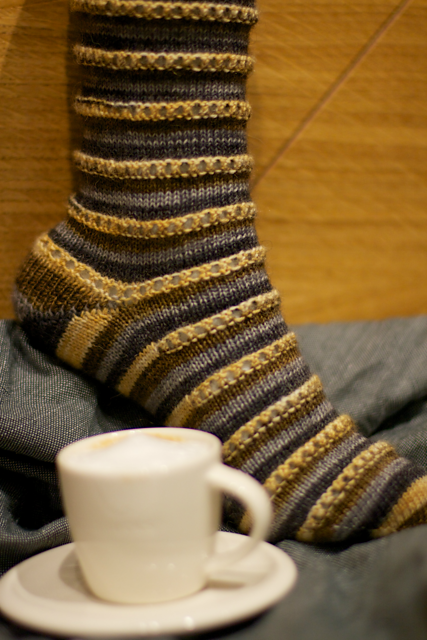 We were both big fans of these self striping Espresso Macchiato socks!