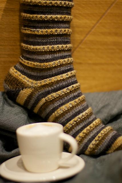 We were both big fans of these self striping Espresso Macchiato socks!