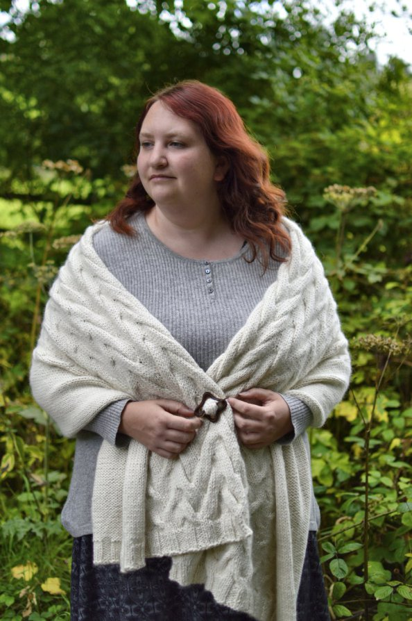Eden Cottage Yarns Whitfell Chunky makes Louise's Shadowlines Wrap pure indulgence!
