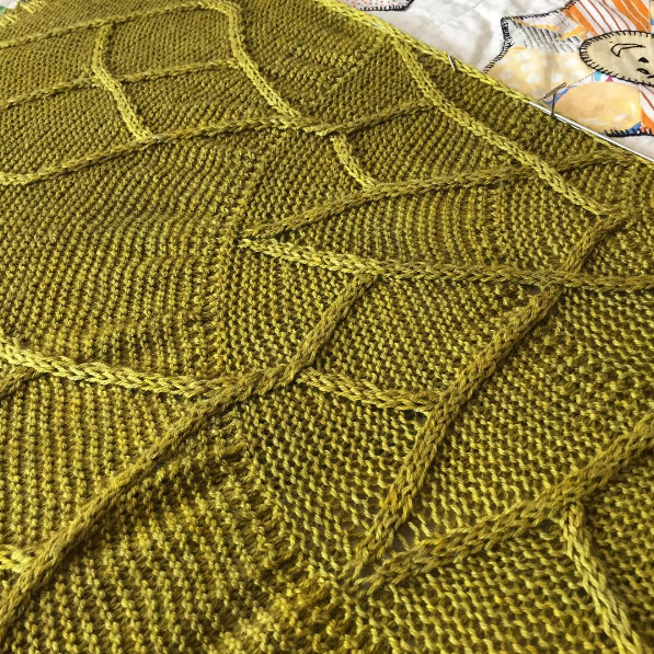 A sneak peek of Rachel's new pi shawl design. Pattern soon to be released through Kettle Yarn Co.