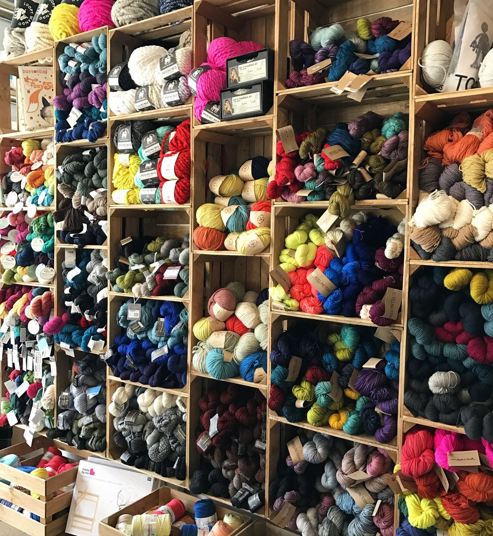 The expanded yarn selection at The Village Haberdashery