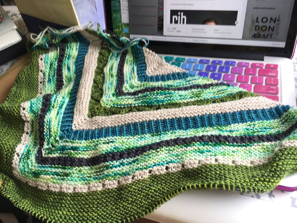 Allison's latest progress on Clue 2 of the Joji Mystery Wrap MKAL, Starting Point.