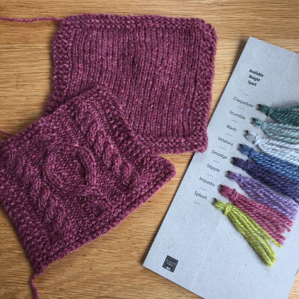 The beautiful new Brushwork yarn from Blacker Yarns