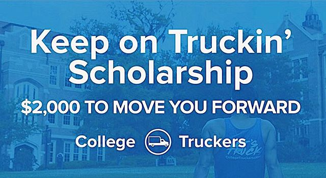 College Truckers is giving away a $2,000 scholarship to a driven college freshman or sophomore - We want to give back to the hardworking students like you! Apply on our website! (link in bio) 📝