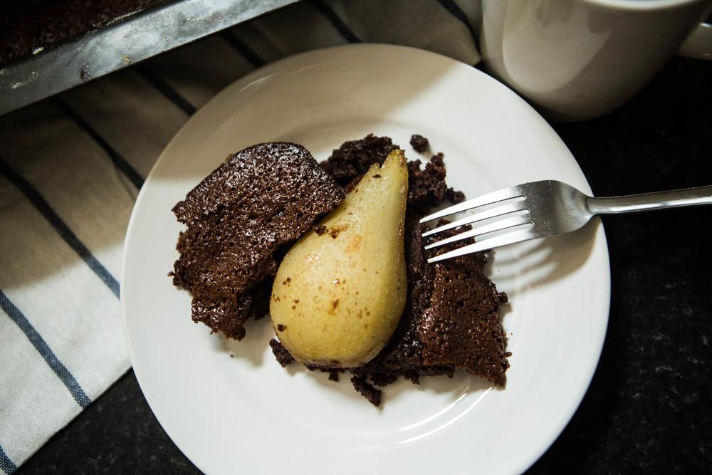 CHOCOLATE & PEAR FONDANT