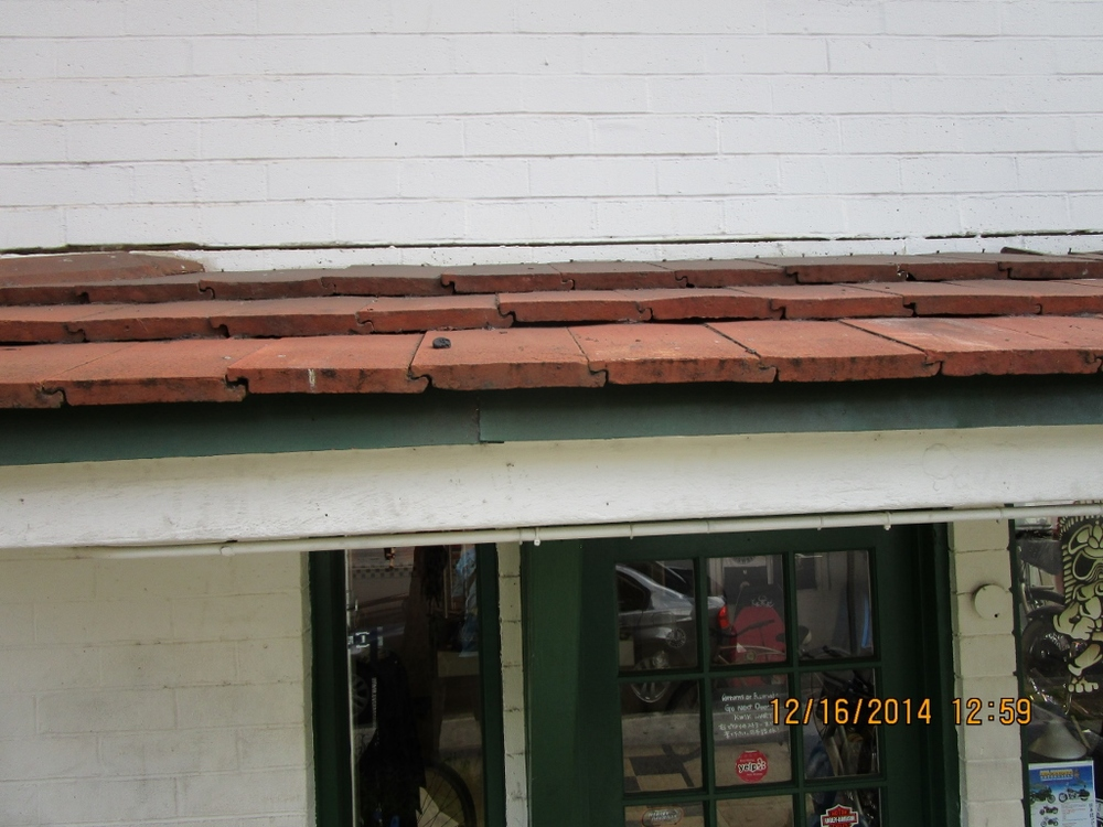 Front of Eyebrow Roof