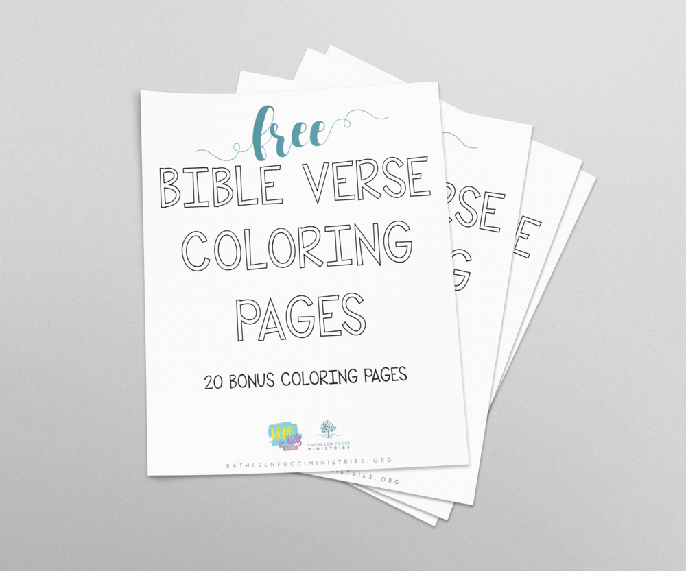 Free Bible Coloring Pages Mesmerizing Free Bible Verse Coloring Pages  Kathleen Fucci Ministries Inspiration