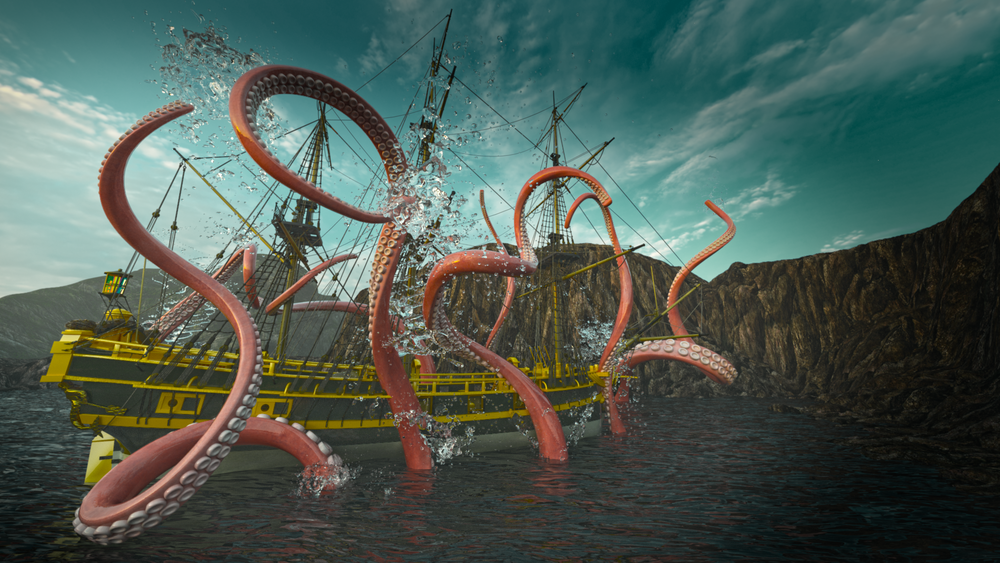 Giant Octopus at Skull Cove