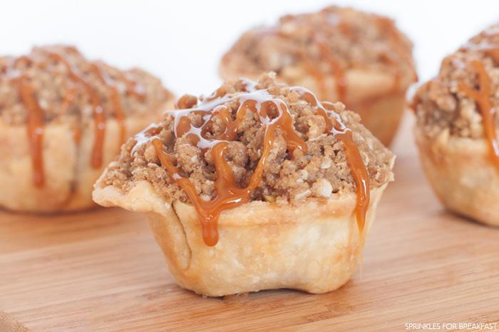 Individual Caramel Apple Pies