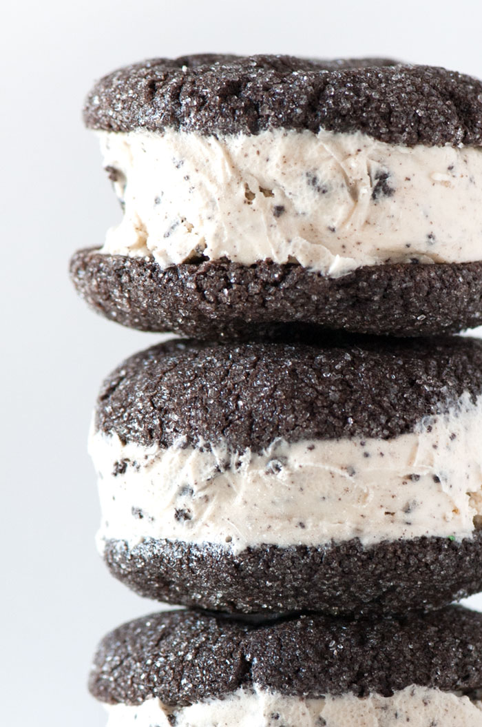 Sprinkles for Breakfast | Cookies and Cream Ice Cream Ice Cream Sandiwches