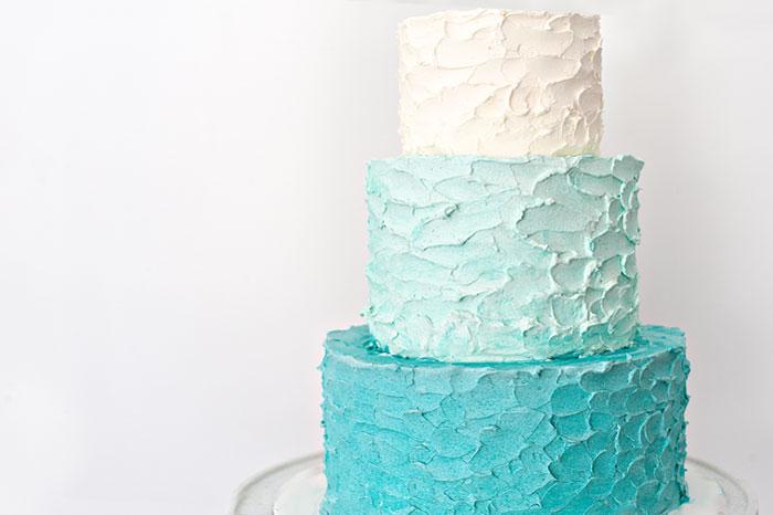 Sprinkles for Breakfast | Rustic Ombre Cake