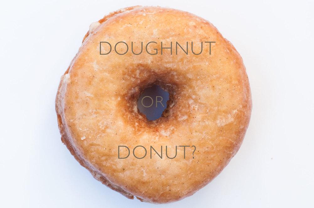 DONUT or DOUGHNUT?
