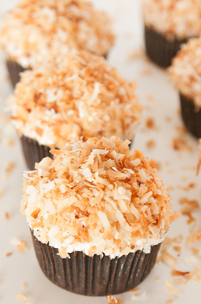 Sprinkles for Breakfast | Chocolate Toasted Coconut Cupcakes