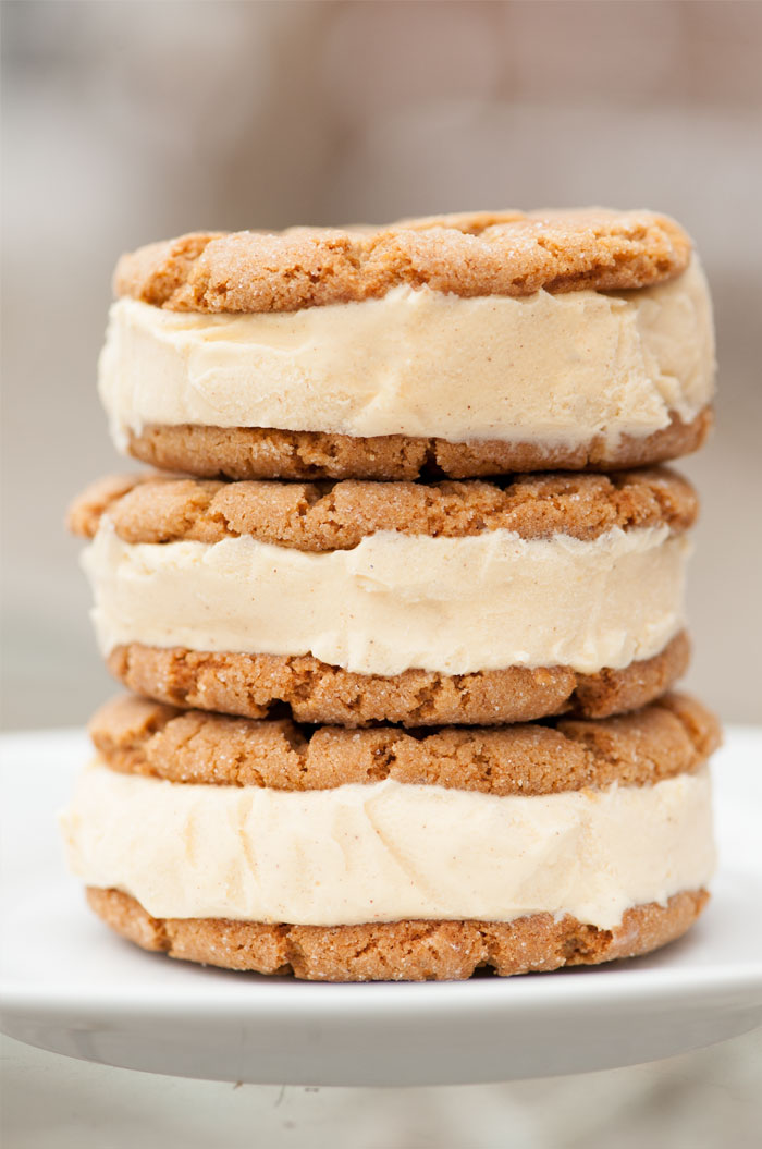 Ginger Molasses And Honey Ice Cream Sandwiches | Sprinkles for Breakfast