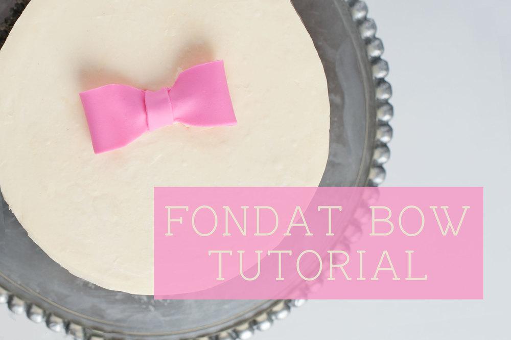 Fondant Bow Tutorial | Sprinkles for Breakfast
