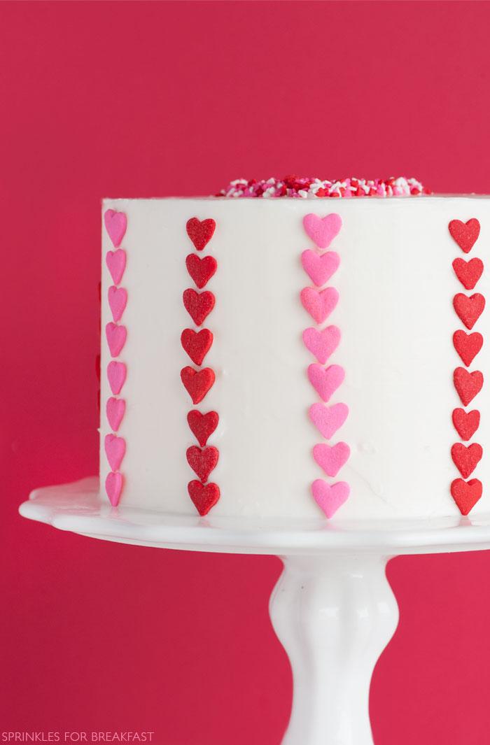 Valentine's Day Cake | Sprinkles for Breakfast