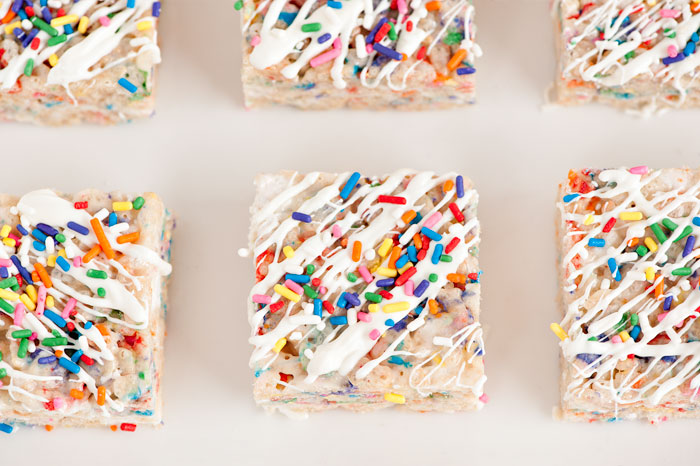 Confetti Rice Krispy Treats | Sprinkles for Breakfast
