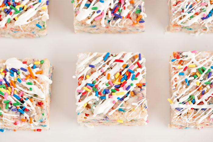 Confetti Rice Krispy Treats | Sprinkles for Breakfast