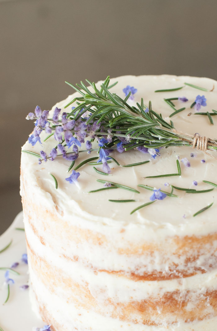 Chocolate Cake Rosemary Buttercream